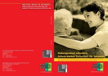 Sicherheit für Senioren - Polizei Bayern