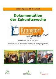 Dokumentation der Zukunftswoche Kronstorf