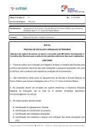 Ofício Circular nº: 8 De - Direcção Regional de Educação de Lisboa