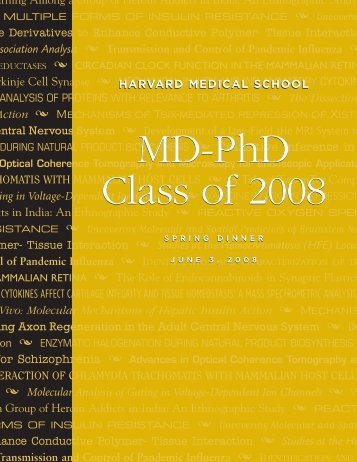 2008 Class Book - Harvard Medical School