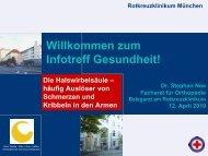 Zum Infotreff Gesundheit! - Rotkreuzklinikum München