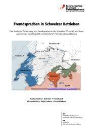 Fremdsprachen in Schweizer Betrieben