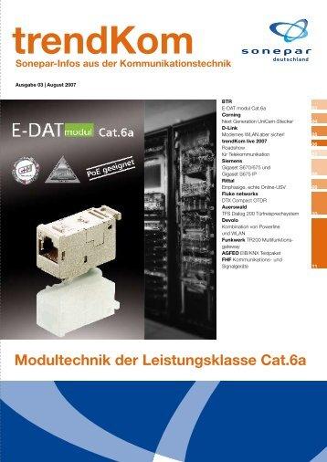 Modultechnik der Leistungsklasse Cat.6a - Sonepar