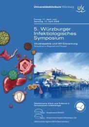 5. Würzburger Infektiologisches Symposium - Universitätsklinikum ...