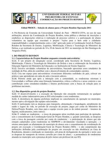 Edital - Universidade Federal do Pará