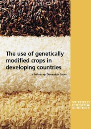 GM crops in developing countries: full discussion paper