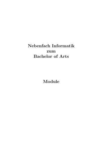 Modulhandbuch NF-INF BA - Die Informatik in Stuttgart