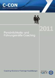 Business Coaching 2011 - C-Con Gmbh