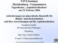 VSVI-Seminar Mecklenburg –Vorpommern - VSVI MV