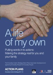 Carers strategy action plan