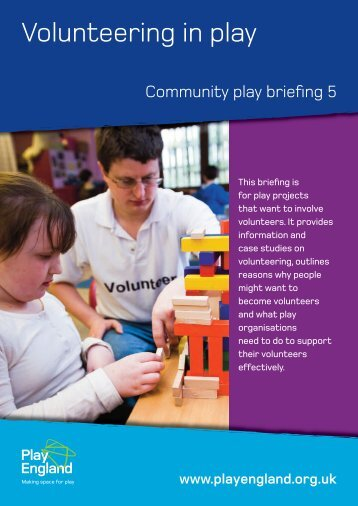 Volunteering in play - Play England