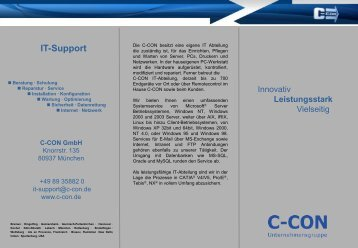 It-Support - C-Con Gmbh