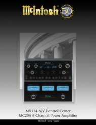 MX134 A/V Control Center MC206 6-Channel ... - Audio Classics