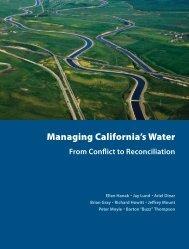 Managing California's Water - Public Policy Institute of California