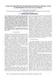 a new non-parametric method for estimating missing value in ...