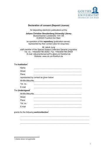 Deposit Agreement Form Nfa