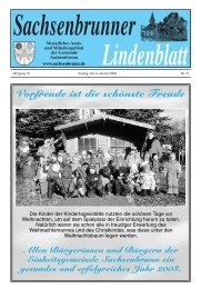 Vorfreude ist die schönste Freude - Gemeinde Sachsenbrunn