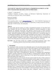 109 ANALYSIS OF VARIANCE OF MECHANICAL PROPERTIES OF ...