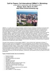 Call for Papers: 3rd International OMNeT++ Workshop