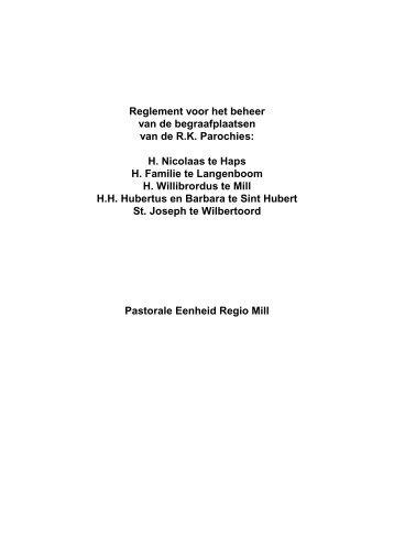 Pemill reglement begraafplaatsen - Pastorale Eenheid Regio Mill