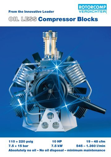 oil-less compressor systems - Jordair Compressors Inc.