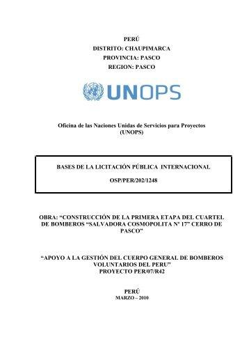DOCUMENTOS ESTÁNDAR DE LICITACIÓN - UNOPS