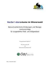 WasSSerlebensräume im Wienerwald - Naturschutzbund NÖ