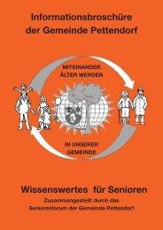 Angebote der Vereine für Senioren - Gemeinde Pettendorf