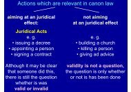 Actions which are relevant in canon law - Ulrich Rhode