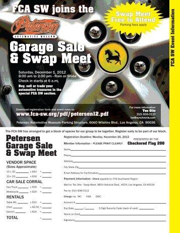 Petersen Swap Meet