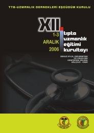 1-3 ARALIK 2006 - Türk Tabipleri Birliği