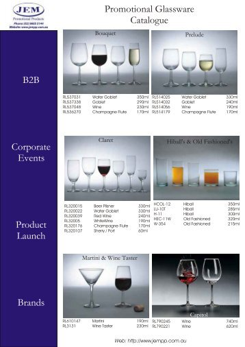 JEM Custom Printed Glassware - JEM Promotional Products