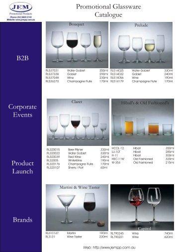 JEM Custom Printed Glassware - JEM Promotional Products