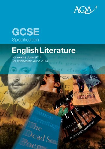 GCSE AQA English Literature Specification - Poole Grammar School