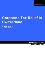 Corporate Tax Relief In Switzerland