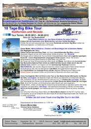10 Tage Big Bike Tour Kalifornien und Nevada - Roberts ...