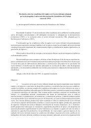 Resolución sobre las estadísticas del empleo en el sector informal ...