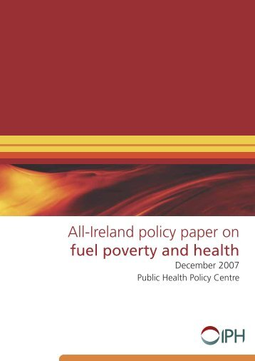 All-Ireland policy paper on fuel poverty and health - Irish Health ...