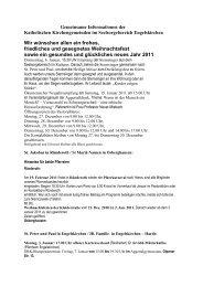 Gemeinsame Informationen der Pfarren im ... - Oberberg-Aktuell