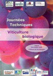 Journées Techniques Viticulture biologique - AgroBio Périgord