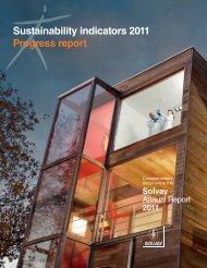 Sustainability indicators 2011 Progress report - Solvay