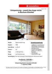 Entspannung – soweit das Auge reicht in Bochum-Riemke!