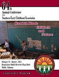 Annual Conference - Southern Early Childhood Association