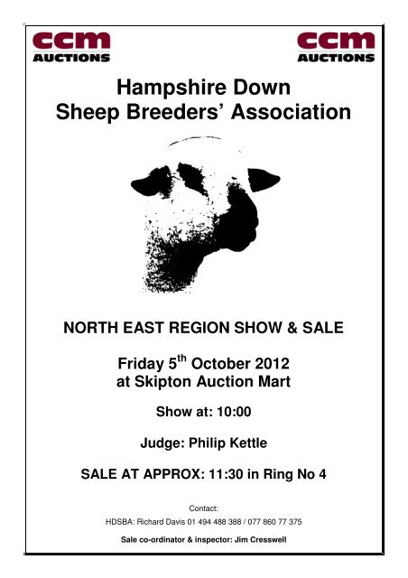 Hampshire Down Sheep Breeders' Association - Auction Mart