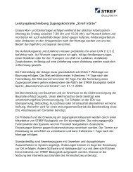 """Leistungsbeschreibung Zugangskontrolle """"Streif InSite"""" - Streif-rent.de"""