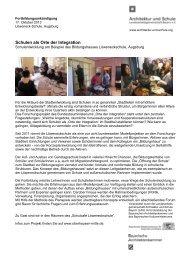 Schulen als Orte der Integration