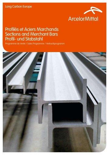 Profilés et Aciers Marchands Sections and Merchant Bars ... - Infosteel
