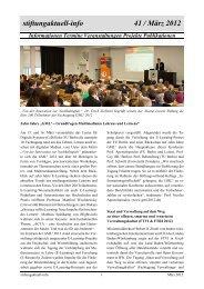 stiftungaktuell-info 41 / März 2012 - Alcatel-Lucent Stiftung für ...