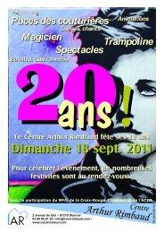 Dimanche 18 sept. 2011 - Réseau Information Jeunesse d'Alsace