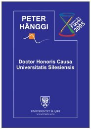 Doktorat Honoris Causa - Institut für Physik - Universität Augsburg